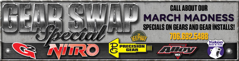 Call Us and Ask About Our Gear Swap Special!